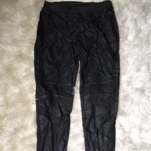 Charcoal Gray Pleather Pants